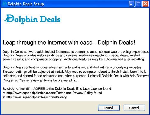 Dolphin Deals Ads Sqeedolphindeals.com Removal Guideline