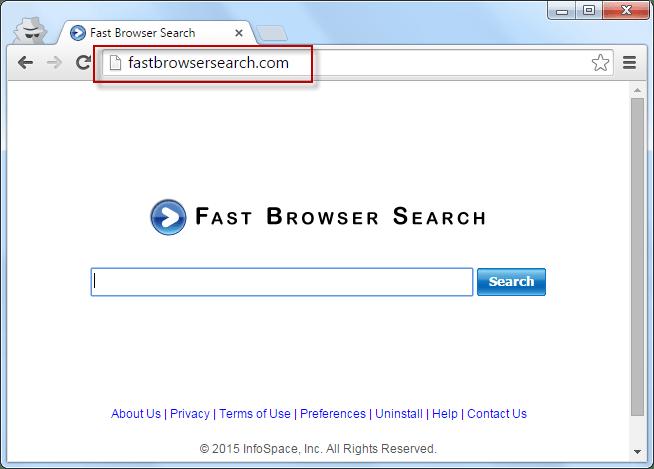 Fastbrowsersearch.com Search Bar Screenshot