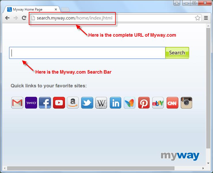Search.myway.com Search bar Screenshot