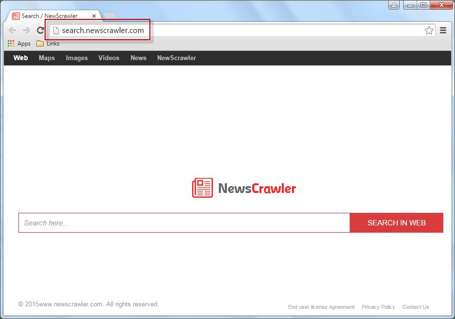 Search.newscrawler.comSearch Bar Screenshot