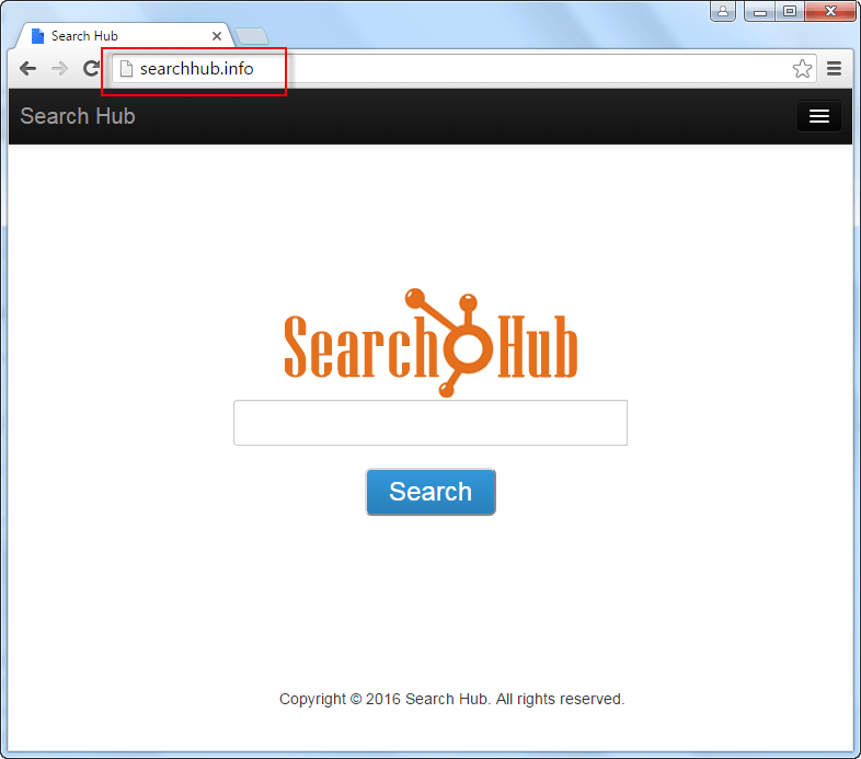 Searchhub.info Search Bar Screenshot