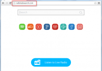 Radiotabsearch.com Homepage Screenshot