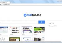 Startab.me Search Page Screenshot