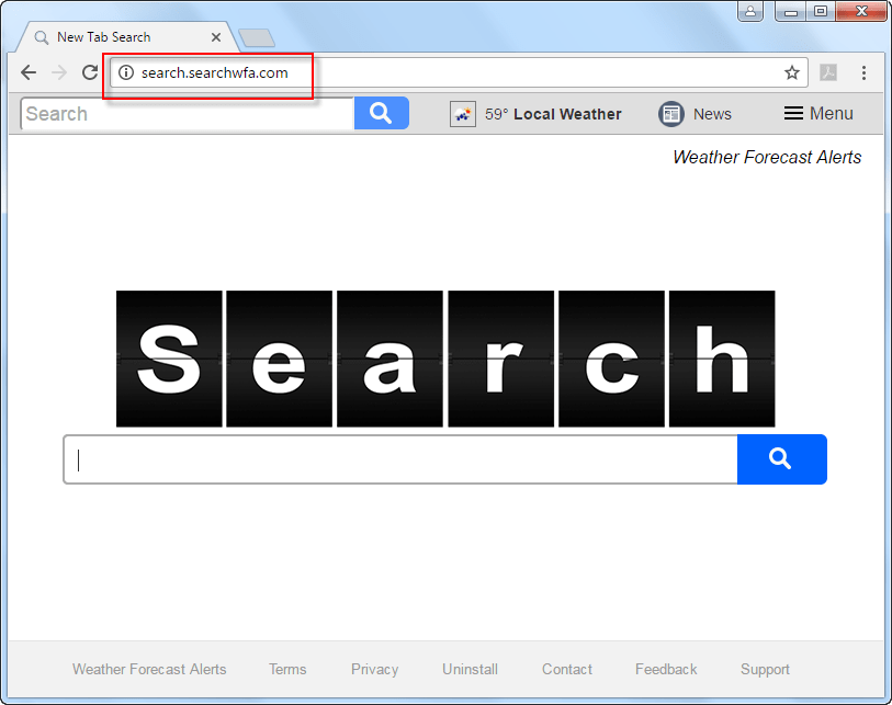 how to remove google search bar