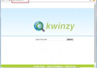 Kwinzy.com Search Bar