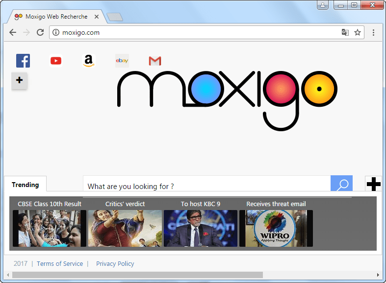Moxigo.com Search Page