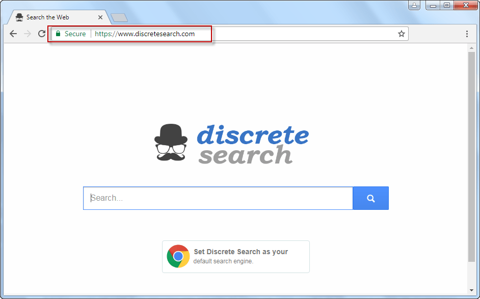DiscreteSearch.com Screenshot