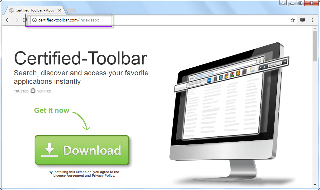 Certified-toolbar.com SEarch Bar
