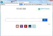 Remove Search.searchotva.com Online TV Access search bar