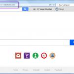 Get rid of Search.searchw3w.com search bar