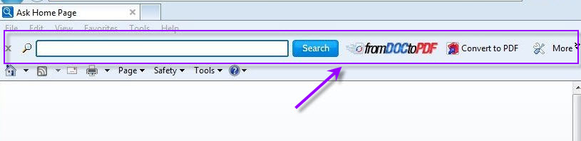 Remove FromDocToPDF toolbar