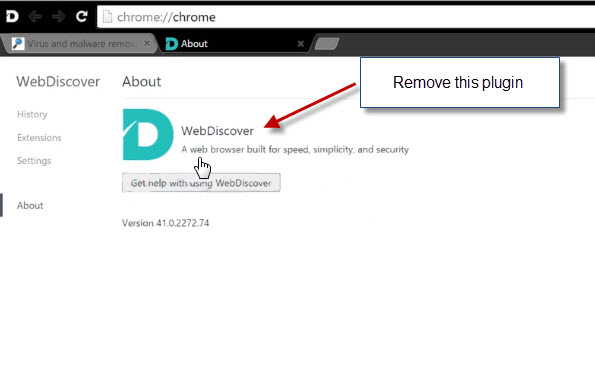 Remove WebDiscover