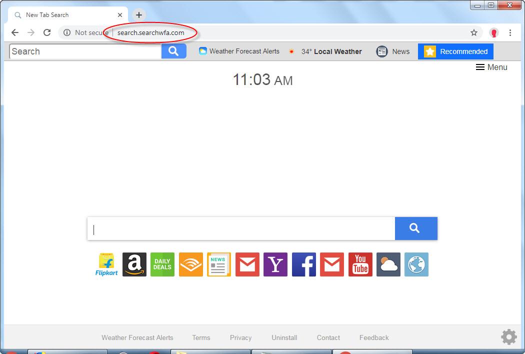 Search.searchwfa.com search bar removal