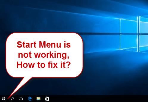 start menu to responding