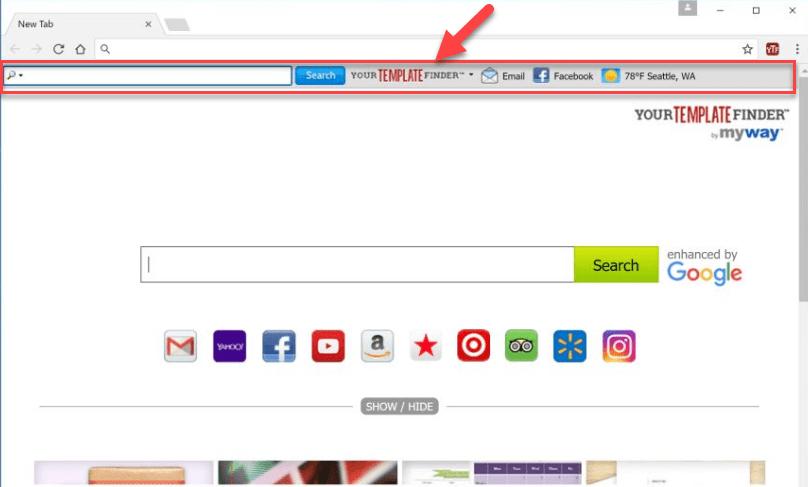 Yourtemplatefinder homepage image
