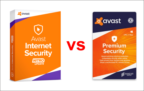 avast internet security vs premium
