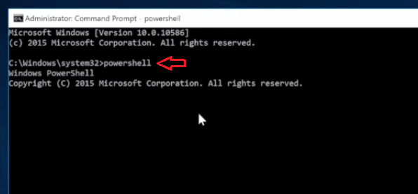 enter powershell