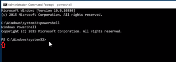 entered powershell