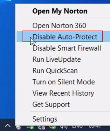 disable protect