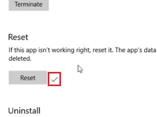reset complete