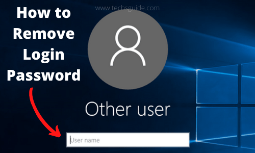 How to Remove Login Password